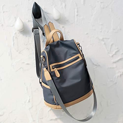 Preisvergleich Produktbild New Shoulder Backpack Female Large Capacity Single Shoulder Bag Anti-Theft, Anti-Scratch Outdoor Bag Waterproof Tourist Bag Simple Splicing Bag,Dark Grey