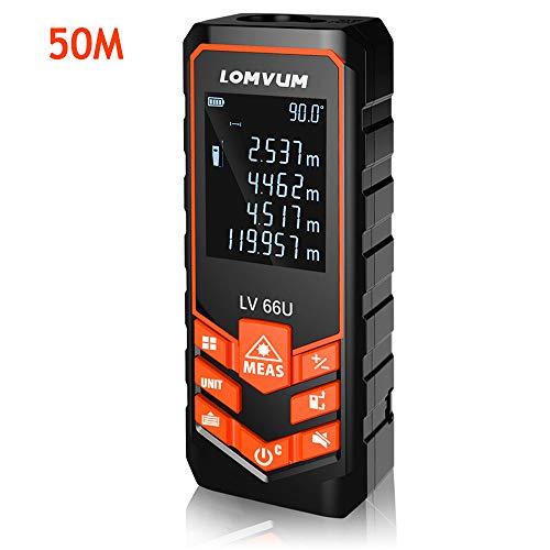 Telémetros láser,LOMVUM 50M Medidor de...