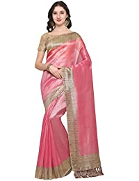 8efd5a19b66 Rajnandini Women s Tussar Silk Saree With Blouse Piece (JOPLNB3006 Free  Size)