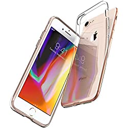 Spigen Coque iPhone 8, Coque iPhone 7, [Liquid Crystal] Ultra Mince Premium TPU Silicone [Crystal Clear] Premium Transparent/Exact Fit/NO Bulkiness Souple Coque pour iPhone 8 et iPhone 7