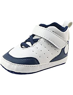 Babyschuhe Longra Baby Jungen Mädchen Krippe-Schuhe Weiche alleinige Anti-Rutsch Turnschuhe Baby Sneaker(0 ~ 18...