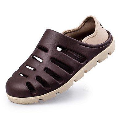 Herren Schuhe Sandalen Gummi Casual Casual zu flachem Absatz Andere Schwarz/Blau/Braun/Grau Brown