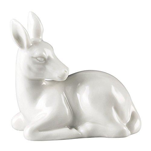 """Hutschenreuther 02468-800001-24623 """"Märchenwald"""" Porzellan-Figur Rehkitz liegend, 5 x 4 cm, weiß"""