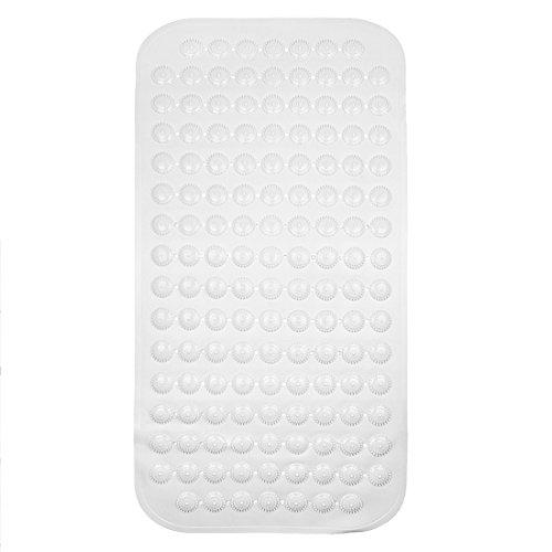 Andux Zone Rutschfeste Badewannenmatte Badewanneneinlage Badematte mit Saugnäpfen Wanneneinlage -Badematte Gummi-Badewanne Matte Anti-Rutsch Anti-Bakterien YSFHD-01 (Creme)