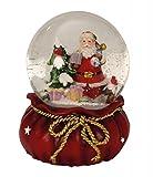 Spieluhr Schneekugel Weihnachten Xmas-Schneekugel mit Musik h=15cm b=11cm Weihnachtsmann