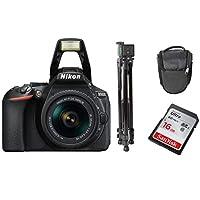مجموعة بطاقات ذاكرة ذاكرة Ultra SD من Nikon D5600 AF-P 18-55mm VR مع جراب ثلاثي وحقيبة حمل Sandisk 16GB Ultra SD
