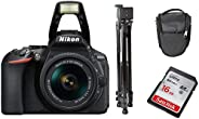 Nikon D5600 AF-P 18-55mm VR Lens with Tripod, Carry case Sandisk 16GB Ultra SD Card Bundle Kit