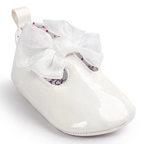 M盲dchen Babyschuhe Leater Bowknot Wei 11 Sneaker Jungen Baby Hunpta Lauflernschuhe Sohle rutschfest Schuhe M盲dchen Gray weiche Toddlerr 51FSq