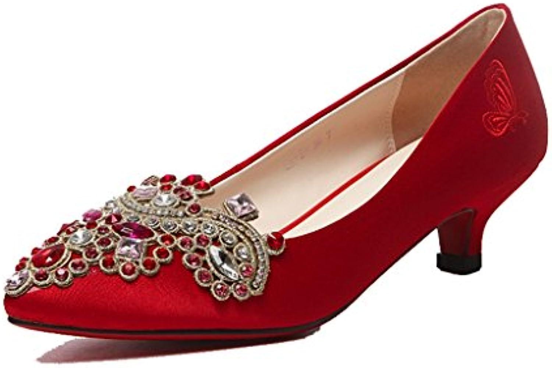 Scarpe da Sposa Cinesi Ricamate Rosse Scarpe Scarpe Scarpe Sposa Nozze Testa di Punta - Scarpe da Sposa da Donna (Coloreee   High... | Promozioni  | Scolaro/Signora Scarpa  b63dd0