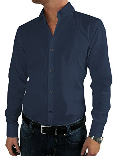 Preisvergleich Produktbild HUGO BOSS Business-Hemd / Jenno ( Slim Fit ) dunkelblau / dark blue (43 / XL)