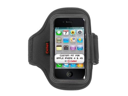 Cellet Sportarmband aus Neopren, leicht waschbar und strapazierfähig, 33 cm lang, kompatibel mit Apple iPhone 4 und 4S