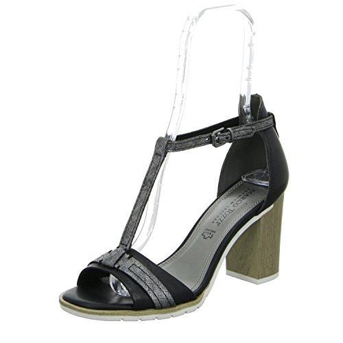 Marco Tozzi 2-28328-26 096 Mulheres Sandalette Preto Chão Elegante (preto)
