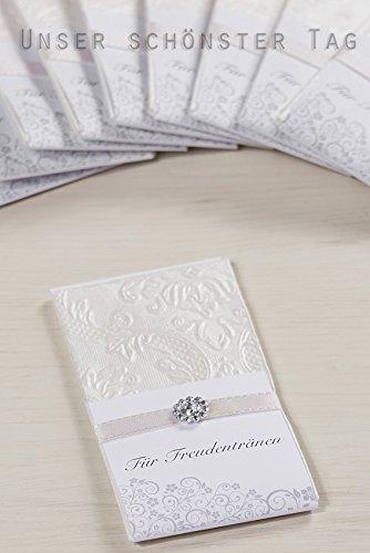 Taschentücher Freudentränen Hochzeit TT0037 champagner