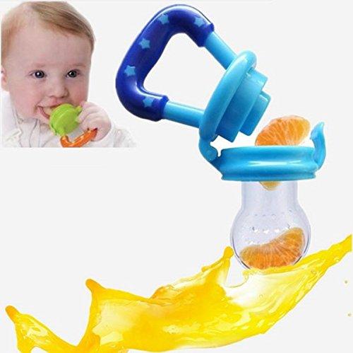 Preisvergleich Produktbild bestbeans Baby Smoothie Maker Fruchtsauger Schnuller - Perfekt für Früchte Obst Gemüse in verschiedenen Farben inkl. Schutzkappe (L, Pink)