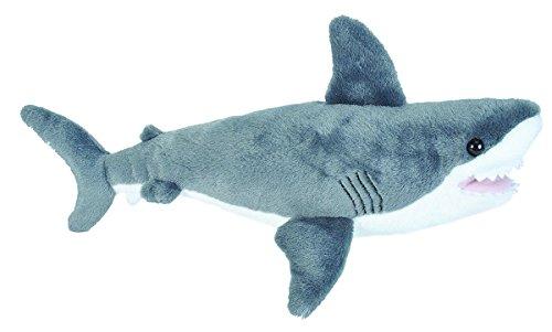 Lashuma Cuddlekins Plüschtier weißer Hai, Kuscheltier Fisch ca. 25 cm