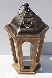 Holz und Metall Laterne Vintage-Kerze Teelichthalter-Garten-Hochzeit Dekoration
