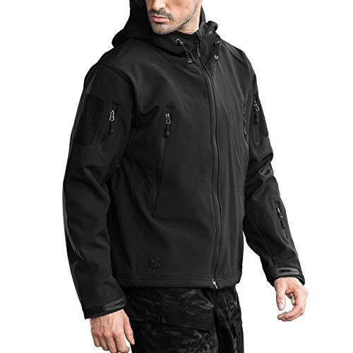 FREE SOLDIER Hombres Impermeable Capucha