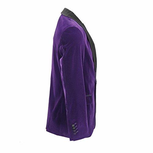 Uomo velluto marrone vintage 3tuta giacca gilet pantaloni venduto separatamente Blazer-Tux-Purple
