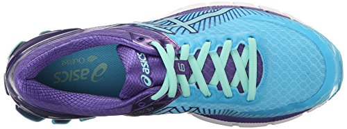 Asics Womens Gel-Kinsei 6 Running Shoe Turquoise/Aqua Mint/Purple