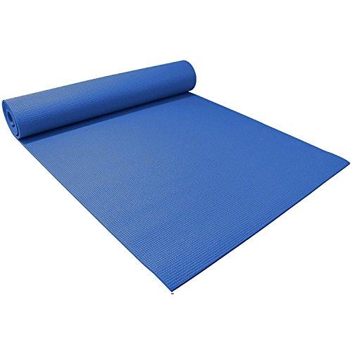 Home Treats gepolsterte Yogamatte, extra groß mit Trageriemen.Rutschfeste Matte für Pilates, Training, Fitness.Farben: Schwarz, Violett, Blau.(Blau). - Große Matte