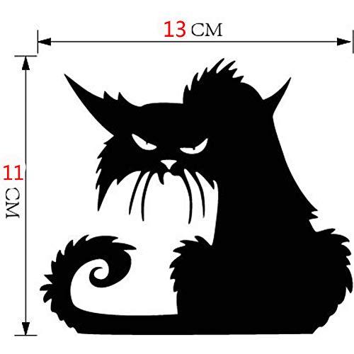 WSKRZS Vinyl Abnehmbare 3D Wandaufkleber Halloween Black Cat Decor Decals Für Wände Aufkleber wandaufkleber wanddekor