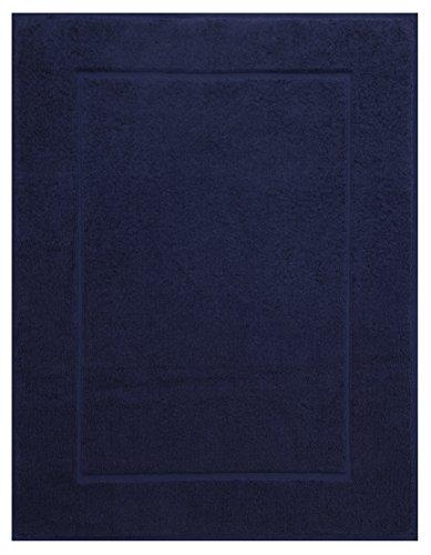 Betz Badvorleger Größe 50x70 cm 100{615d30984c48fc222157fb573e0fe1f75023ff0c01cc54d220b832484327c19f} Baumwolle Badematte Badteppich Duschvorlage Premium Qualität 650 g/m² Farbe Dunkel-Blau