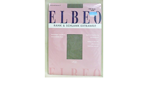 ELBEO RANK/&SCHLANK EXTRAWEIT Stützstrumpfhose Kurzgröße auster