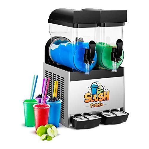 Royal Catering Slush-Eis-Maschine Slushie Maker RCSL 2/15 (2 x 15 L, 600 W, -2 bis -3 °C, BPA-frei, 8-12 Stunden Arbeitszyklus, Härtegrad: 4 Stufen)