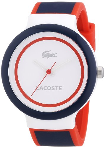Lacoste - 2020029 - Montre Mixte - Quartz Analogique - Cadran Multicolore - Bracelet Silicone Multicolore