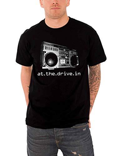 At The Drive in T Shirt Boombox band logo offiziell Nue Herren Schwarz