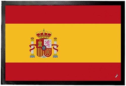 1art1 97080 Spanien - Flaggen Der Welt Fußmatte Türmatte 60 x 40 cm -