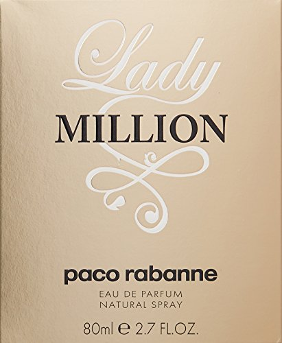 Paco Rabanne Lady Million Eau de Parfum Spray for Women, 80 ml