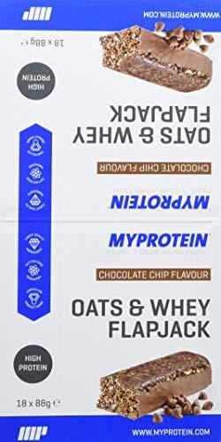 MyProtein Oats & Whey Barritas Proteínicas, Sabor Chip de Chocolate - 18 Barras