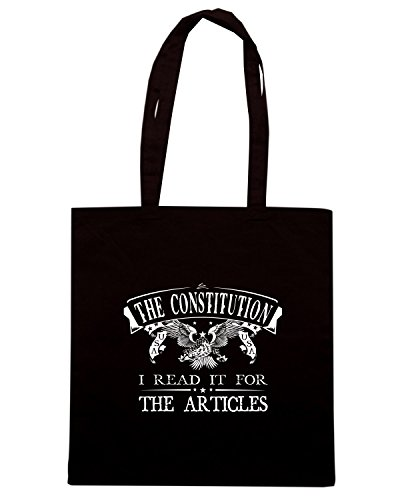 T-Shirtshock - Borsa Shopping TM0684 the constitution. i read if for the articles Nero