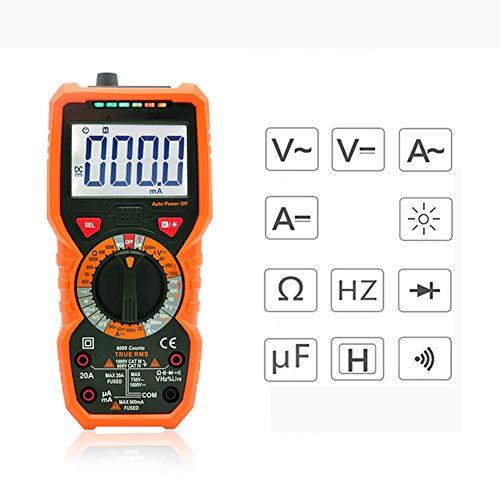 LWJYXJ Digital Multimeter True RMS Temperaturmessung Außenleiter-Identifizierung Durchgangsprüfung