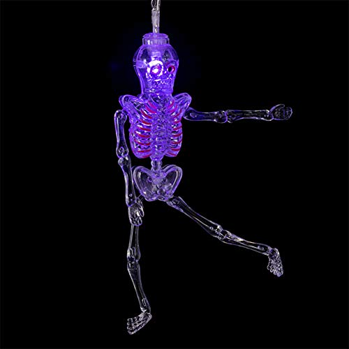 Lights Dekorative 10 LED Urlaub String Beleuchtung Halloween Dekoration Skull Garland Party Night LED Urlaub Nachtlicht (Größe : Purple) ()