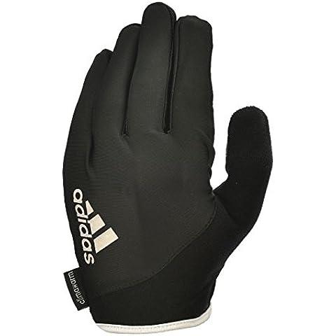 Adidas dedo completo guantes esenciales - blanco, grande