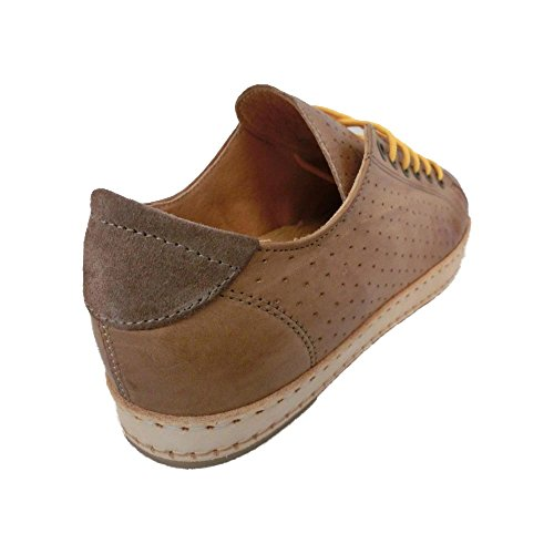 Chaussures Hommes Exton Enna Rustique En daim made in Italy 0045 Taupe