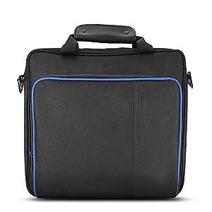 Tragbare PS4 Tasche, Reise Aufbewahrungskoffer Schutz und wasserdichte Tasche mit Verstellbarem Schultergurt Spezifizierte Handtasche für PS4