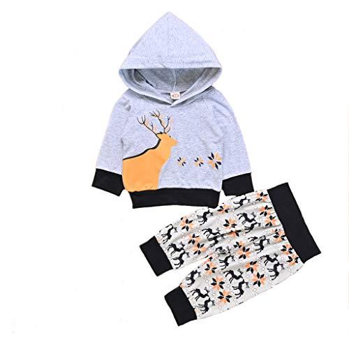 Btruely Overall Baby Baby Born Kleidung Set Baby KleidungNeugeborenes Baby Jungen MäDchen Weihnachten Hooded Cartoon Top Shirts Hosen KostüM