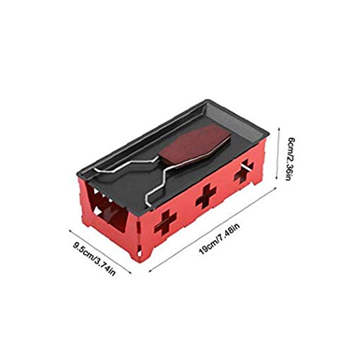 41vCuJnNycL - veklblan 1set Kreativen Käse Pan Eisen Non Stick Rachael Grill Rack-Käse Schmelzen Pan Candlelight Beheizte Grill Zubehör Küche Zubehör Red