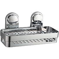 Ducha Caddy con Super fuerte ventosas acero inoxidable baño Caddy pared estantes de almacenamiento cesta de cocina