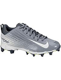 2107ca22a5c46 NIKE Boy s Vapor Keystone 2 Low (GS) Baseball Cleat Stealth Graphite White