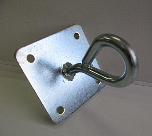 ANGOPE Halterung Hängematte geschlossen sehr robust, Haken Farbe verzinkt–Öse Aufhängeset...