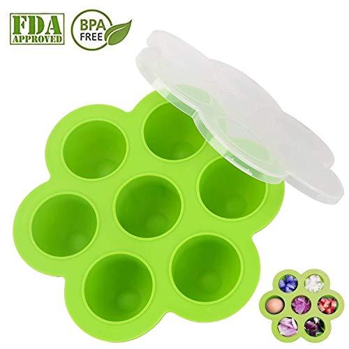 Ideapark Silikon-Ei beißt Formen Wiederverwendbare Babynahrung Vorratsbehälter für Babynahrung Gefrierschrank Obst EIS Ei beißen - Rezepte Gefrierschrank