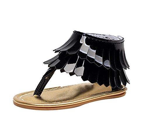 hellomiko Mädchen Sandalen Prinzessin Schuhe Baby Erste Wanderschuhe Outdoor Beach Schuhe Soft Soled Schuhe (Mädchen Sandles Gladiator)