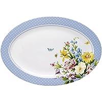 Katie Alice English Garden Oval Serving Platter, 14-Inch by Katie Alice