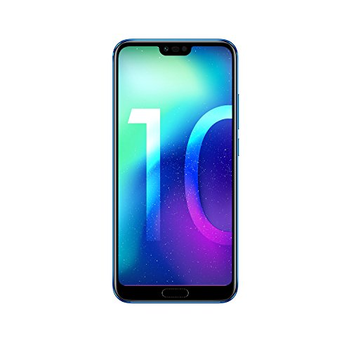 Honor 10 Smartphone (14,83 cm (5,84 Zoll), Full HD+ Touch-Display, 64GB interner Speicher, 4GB RAM, 24 MP + 16 MP Dual Kamera, 24 MP Frontkamera, Dual-SIM, LTE, Android 8.1, EMUI 8.1) Phantom Blau - Deutsche Version