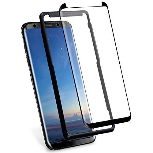 S8 Plus Panzerglas,Herhea S8 Plus Schutzfolie Panzerglas (Mit Einbaupositionierer),3D Vollständige Abdeckung/9H Härte/Anti-Kratzer/Wasserdicht Panzerglas Schutzfolie für Samsung Galaxy S8 Plus
