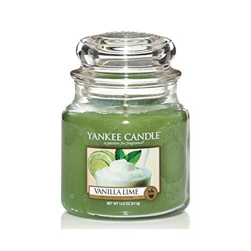 Yankee Candle Glaskerze, mittel, Vanilla Lime